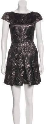 Alice + Olivia Metallic A-Line Dress