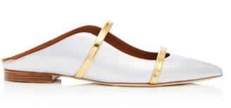 Malone Souliers by Roy Luwolt Maureen Metallic Leather Flats