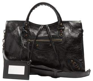 Balenciaga Classic City Leather Shoulder Bag - Womens - Black