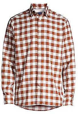 Eton Men's Contemporary-Fit Large Scale Gingham Shirt