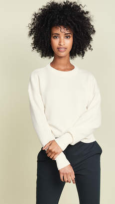 Theory Cashmere Drop Shoulder Crew Sweater