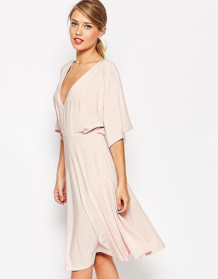e23ee68be0952 ASOS COLLECTION ASOS Kimono Plunge Midi Dress