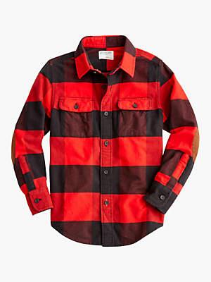 J.Crew crewcuts by Boys' Buffalo Check Shirt, Red/Black