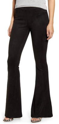 Blank NYC BLANKNYC Faux Suede Flare Pull-On Pants