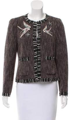 Rebecca Taylor Tweed Embroidered Jacket w/ Tags