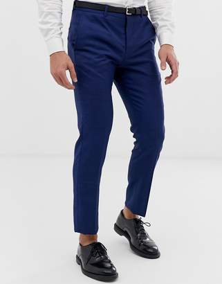 Jack and Jones slim fit stretch suit pants in blue
