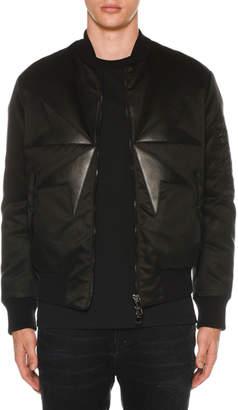 Neil Barrett Men's Goth Cross Bomber Jacket