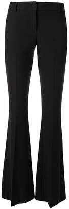 Frankie Morello boot-cut slim-fit trousers
