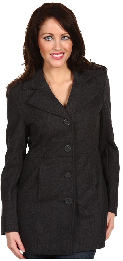 Gabriella Rocha Missy Wool Coat (Grey) - Apparel