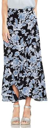 Vince Camuto Floral Print Ruffle Hi-Lo Maxi Skirt