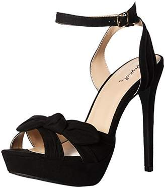 Qupid Women's Platform Sandal Heeled
