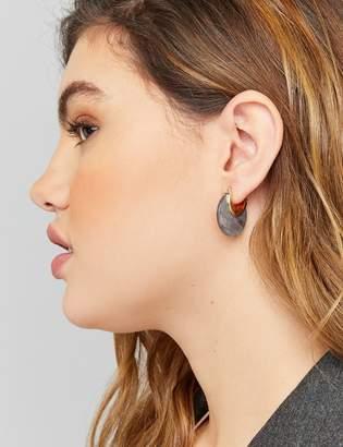 Lane Bryant Mini Resin Huggie Circle Earrings