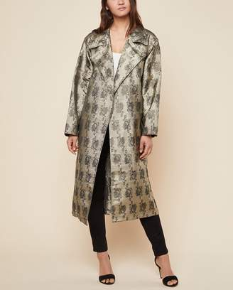 Juicy Couture Metallic Rose Jacquard Coat