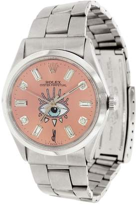 Jacquie Aiche Vintage Pink Rolex Watch with White Diamonds