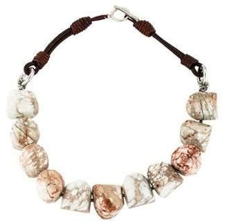 Brunello Cucinelli Riverstone Bead Collar