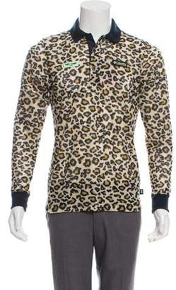 Opening Ceremony Columbia x Animal Print Polo Shirt w/ Tags tan Columbia x Animal Print Polo Shirt w/ Tags