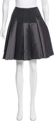Donna Karan Pleated A-Line Skirt