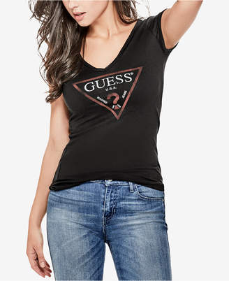 GUESS Logo V-Neck T-Shirt