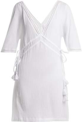 Heidi Klein Moorea lace-trimmed cotton shirtdress