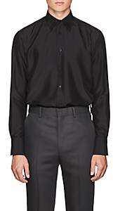 The Row Men's Keith Silk Boxy Shirt - Black