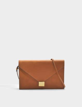 Victoria Beckham Envelope Clutch Bag in Ambra Calf Leather