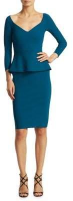 Chiara Boni La Petite Robe Sweetheart Knee-Length Peplum Dress