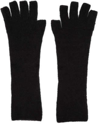 Isabel Benenato Black Knit Gloves