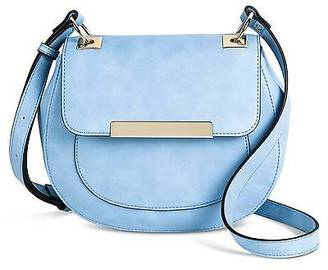 Women's Solid Saddle Crossbody Faux Leather Handbag - Mossimo; $29.99 thestylecure.com