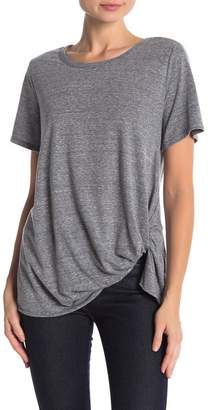 Socialite Side Twist Crew Neck Tee