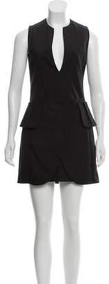 Maison Margiela Sleeveless Mini Dress Black Sleeveless Mini Dress