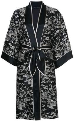 Josie Natori Pagoda wrap night-gown