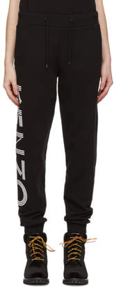 Kenzo Black Logo Sport Jog Lounge Pants