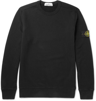 Stone Island Fleece-Back Cotton-Jersey Sweatshirt $180 thestylecure.com