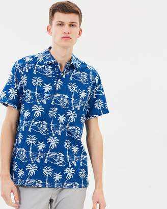 J.Crew Leaf Block Print SS Shirt