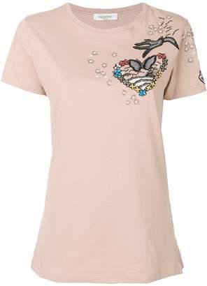 Valentino (ヴァレンティノ) - Valentino 刺繍アップリケ装飾 Tシャツ