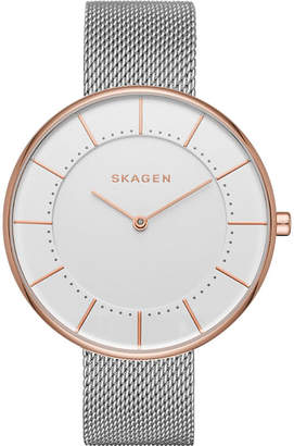 Skagen SKW2583 Gitte rose gold-plated stainless steel watch $158 thestylecure.com