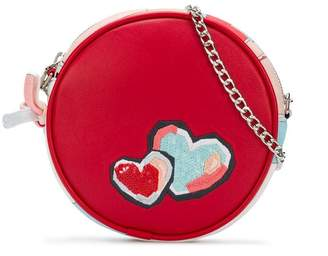 Emilio Pucci Junior heart embroidered round bag