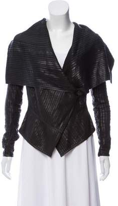 Saks Fifth Avenue Leather Trim Jacket