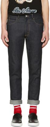 Gucci Indigo Slim Tiger Jeans $860 thestylecure.com