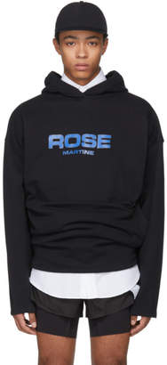 Martine Rose Black Collapsed Hoodie
