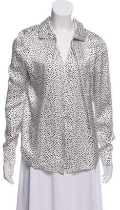 Magaschoni Silk Printed Long Sleeve Top