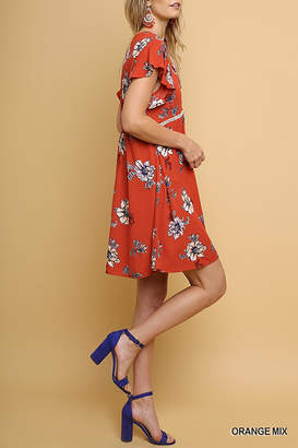 Umgee USA Floral Babydoll Dress