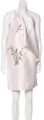 Thomas Wylde Embellished One-Shoulder Dress