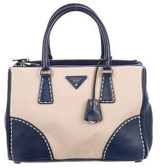Prada City Stitch Double Zip Tote
