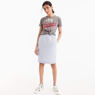 J.Crew Pull-on linen skirt in stripe
