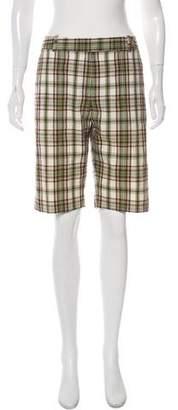 Michael Kors Plaid Bermuda Shorts