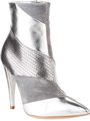 Gianvito Rossi Multi-Textile Metallic Booties