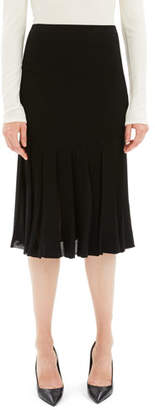 Theory Pleated Viscose Knee-Length Skirt