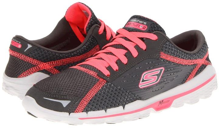 Skechers Performance - GOrun 2 (Charcoal/Hot Pink) - Footwear