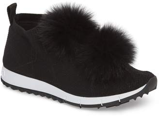 Jimmy Choo Genuine Fox Fur Sock Sneaker